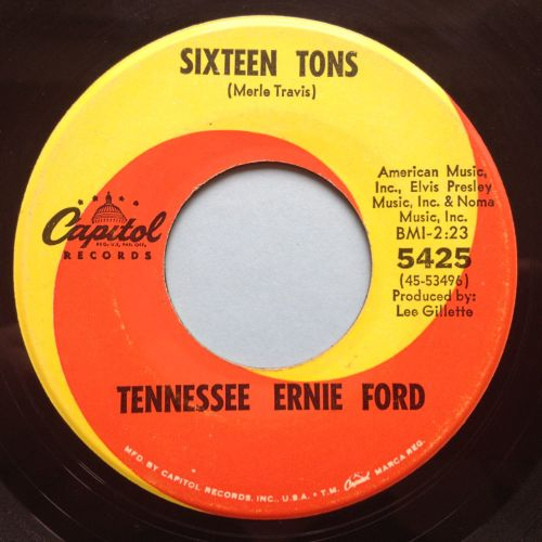 Tennessee Ernie Ford - Sixteen Tons / Hicktown - Capitol - Ex