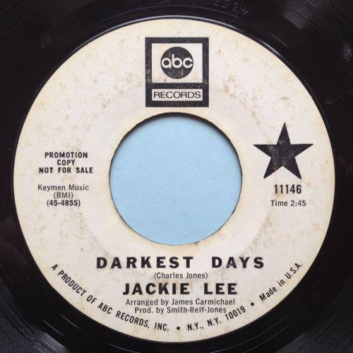 Jackie Lee - Darkest days - ABC promo - VG++