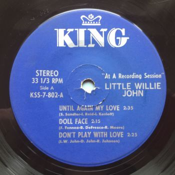 Little Willie John - 6 track King EP - Don't play with love / Until again my love / My baby's in love + 3 - VG+