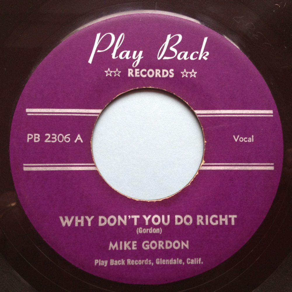 Mike Gordon - Why don't you do right - Play Back - Ex