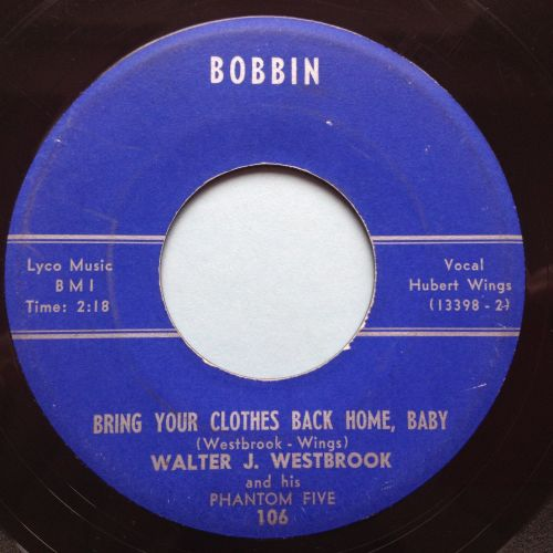 Walter J Westbrook - Bring your clothes back home baby / Midnight Jump - Bo