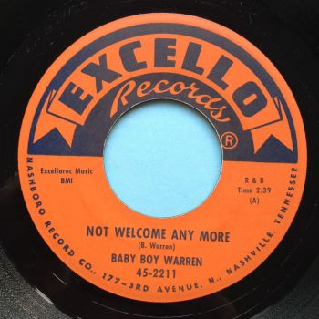 Baby Boy Warren - Not welcome anymore - Excello - Ex