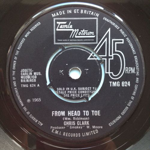 Chris Clark - From head to toe - UK Tamla Motown - Ex