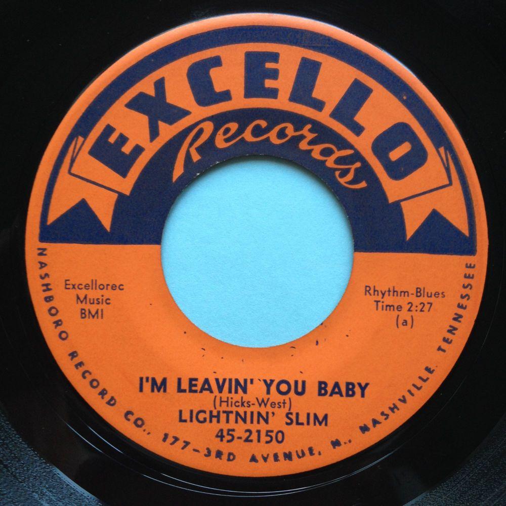 Lightnin' Slim - I'm leavin' you baby / Feelin awful blue - Excello - Ex