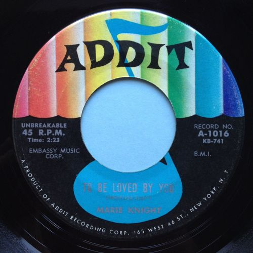 Marie Knight - To be loved by you - Addit - Ex-
