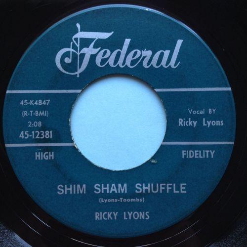 Ricky Lyons - Shim Sham Shuffle - Federal - VG+