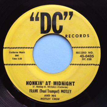 """Frank """"Duel Trumpet"""" Motley - Honkin at Midnight - DC - Ex"""