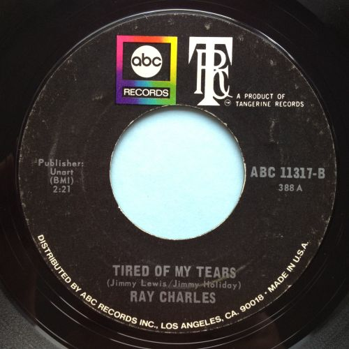 Ray Charles - Tired of my tears - ABC/TRC - Ex