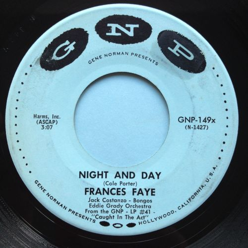 Frances Faye (feat Jack Constanza) - Night and Day - GNP - Ex