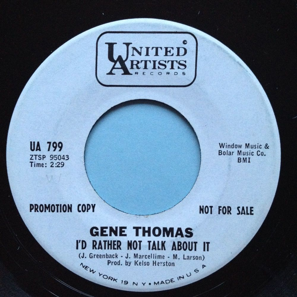 Gene Thomas - I'd rather not talk about it - UA promo - Ex