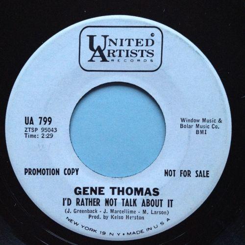 Gene Thomas - I'd rather not talk about it - UA promo - Ex