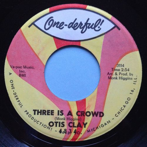 Otis Clay - Three is a crowd - One-derful - ex