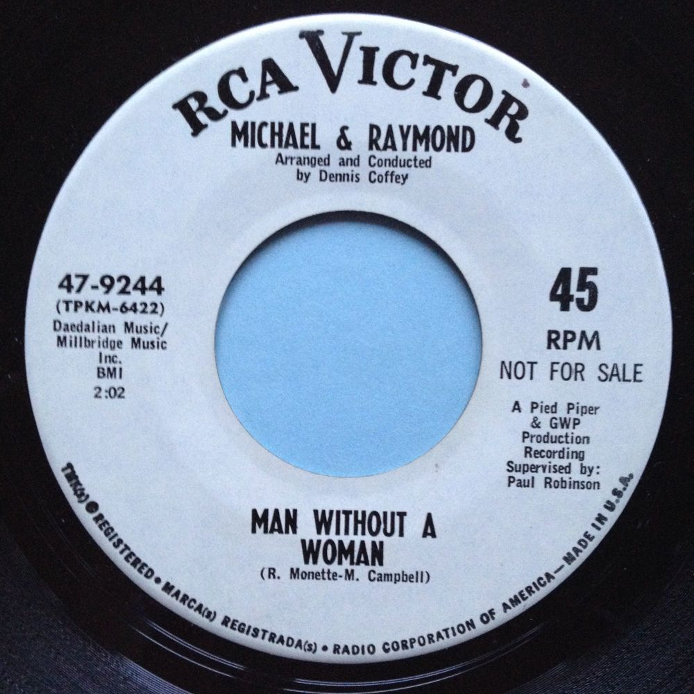 Micahel & Raymond - Man without a woman - RCA promo - Ex