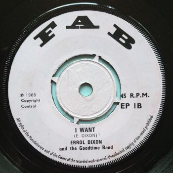 Errol Dixon - I want / Need someone to love me - Fab - Ex-