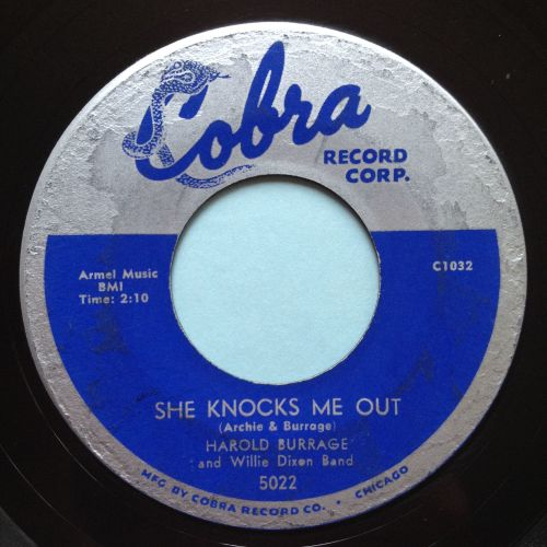 Harold Burrage - She knocks me out - Cobra - VG+