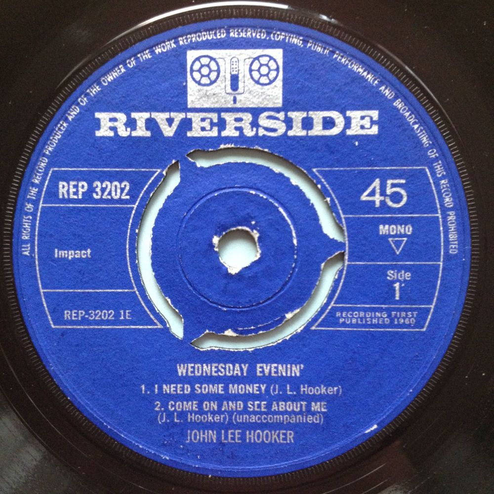 John Lee Hooker - I need some money / No more doggin' + 2  EP with pis slv