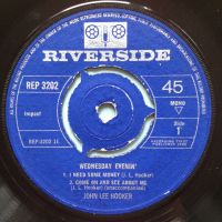John Lee Hooker - I need some money / No more doggin' + 2  EP with pic slv - U.K. Riverside - VG+