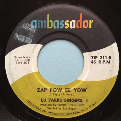 Lu Parks Singers - Zap Pow Ee Yow - Ambassador - VG+