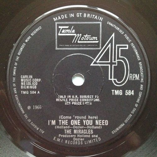 Miracles - (Come round here) I'm the one you need / Save me - U.K. Tamla Mo