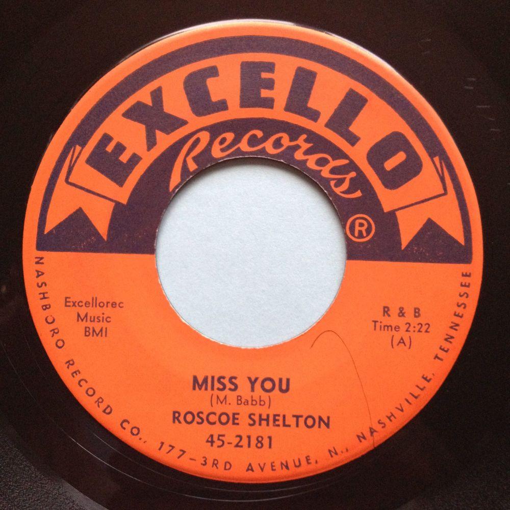 Roscoe Shelton - Miss you - Excello - Ex
