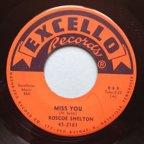 Roscoe Shelton - Miss you - Excello - Ex