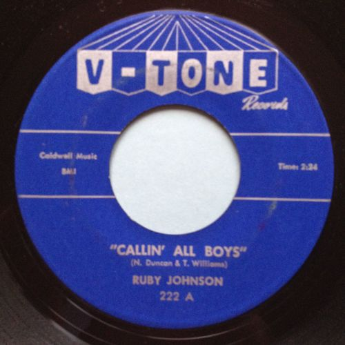 Ruby Johnson - Callin' all boys - V-Tone - Ex