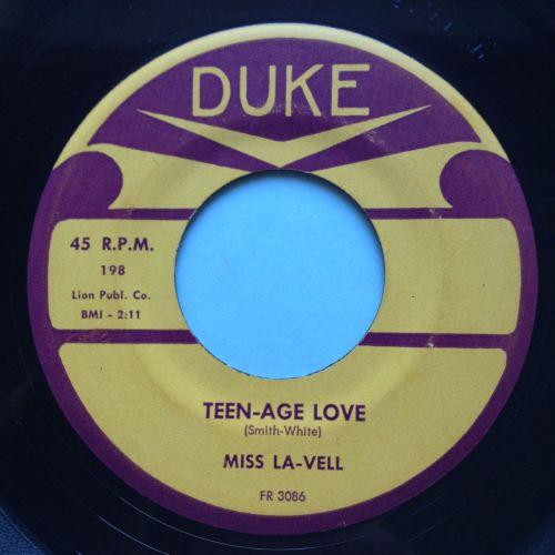 Miss La-Vell - Teen-age Love - Duke - VG+