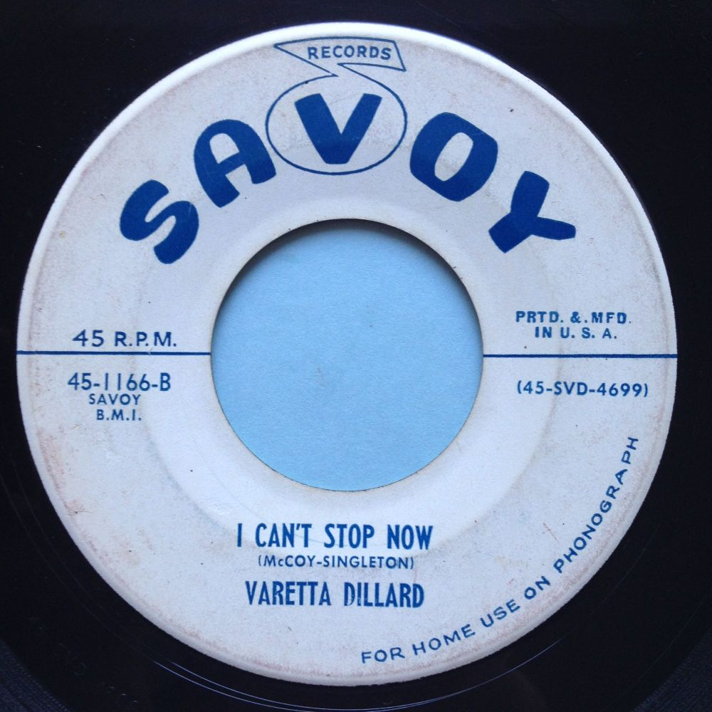 Varetta Dillard - I can't stop now - Savoy promo - VG+