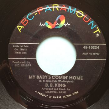 B.B. King - My baby's comin home - ABC - VG+