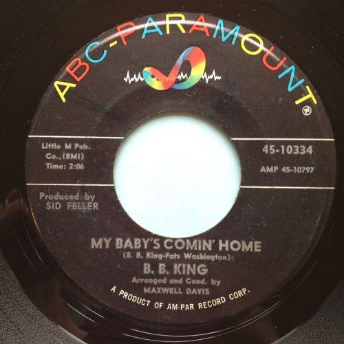 B.B. King - My baby's comin home - ABC - VG+