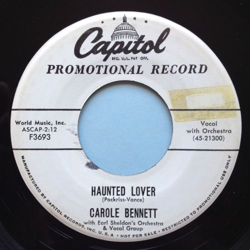 Carole Bennett - Haunted Lover - Capitol promo - Ex-