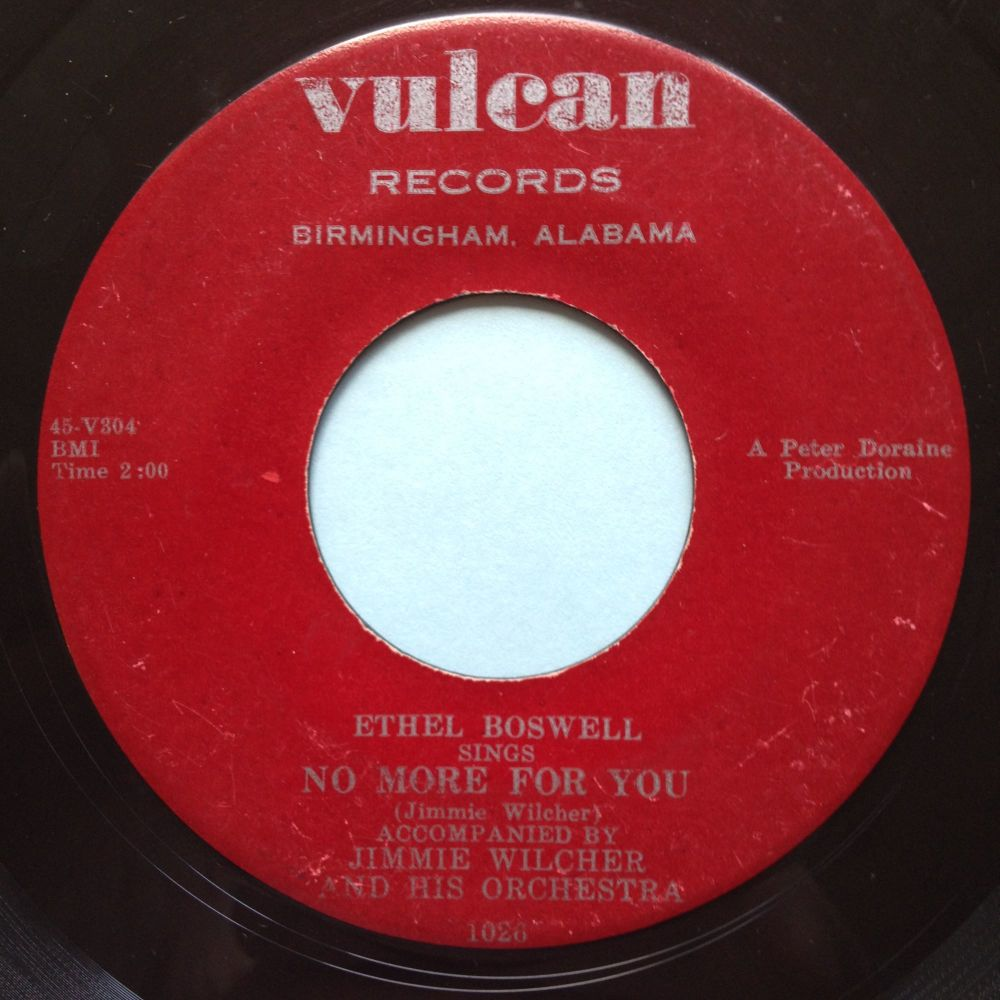 Ethel Boswell - No more for you - Vulcan - VG+