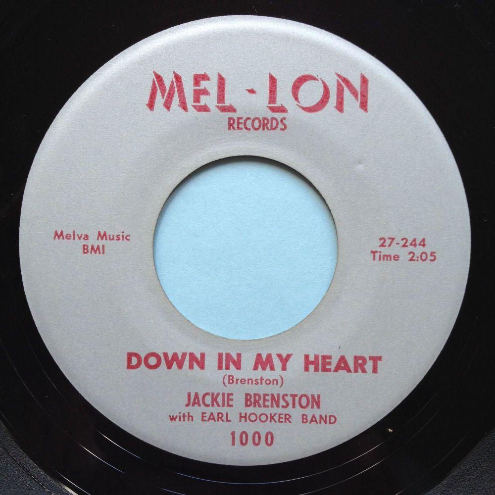 Jackie Brenston - Down in my heart - Mel-lon - Ex