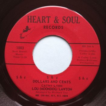Lou (Moondog) Lawton - Dollars and Cents - Heart & Soul - Ex