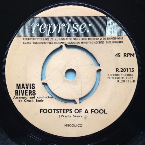 Mavis Rivers - Footsteps of a fool - UK Reprise - Ex