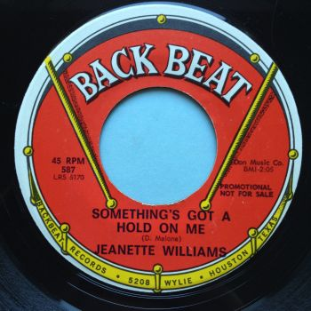 Jeanette Williams - Somethings got a hold on me - Backbeat - Ex-