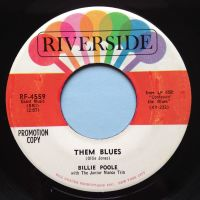Billie Poole - Them Blues - Riverside promo - Ex