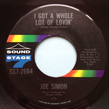 Joe Simon - I got a whole lot of lovin' - SS7 - Ex