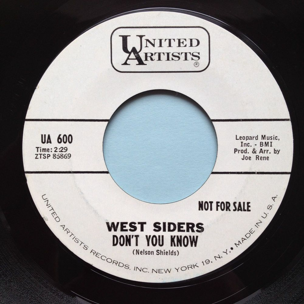 West Siders - Don't you know - United Artists promo - Ex