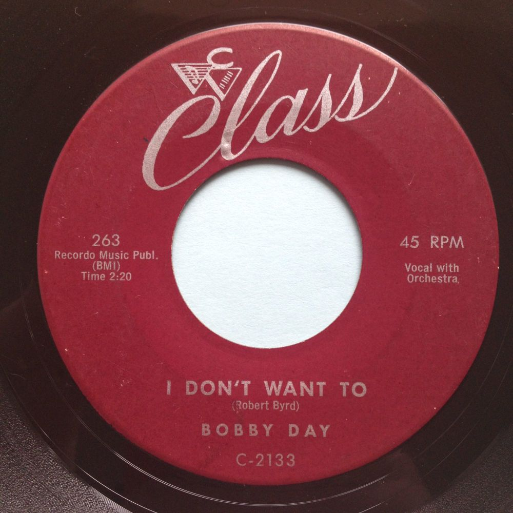 Bobby Day - I don't want to - Class - Ex-