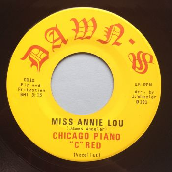 "Chicago Piano ""C"" Red - Miss Annie Lou - Dawn-S - Ex"