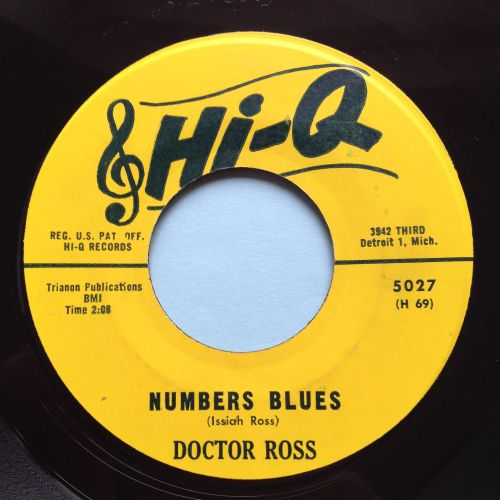 Doctor Ross - Numbers Blues - Hi Q - Ex
