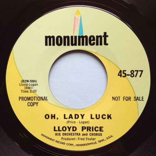 Lloyd Price - Oh, Lady Luck - Monument promo - M-