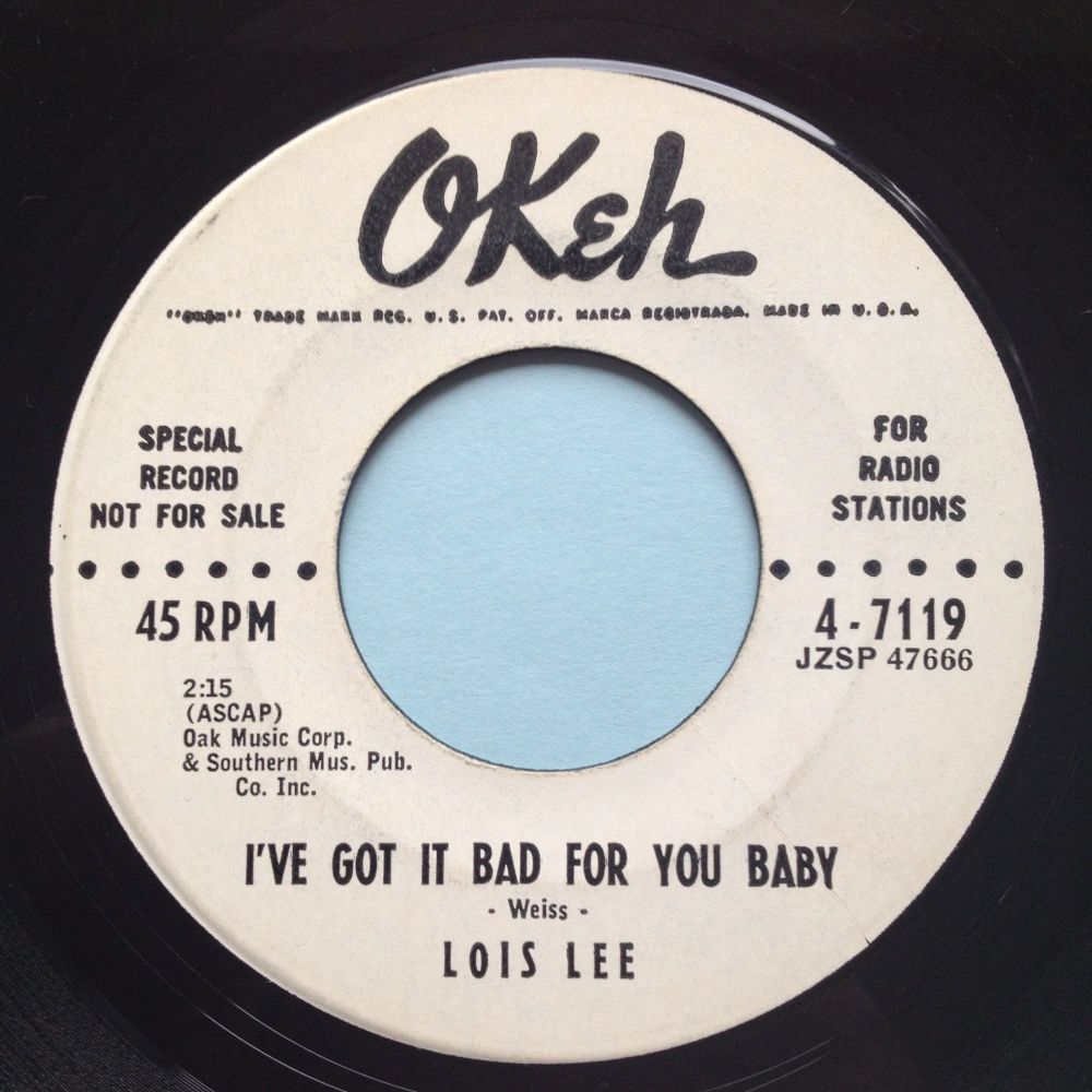 Lois Lee - I got it bad for you baby - Okeh promo - Ex-