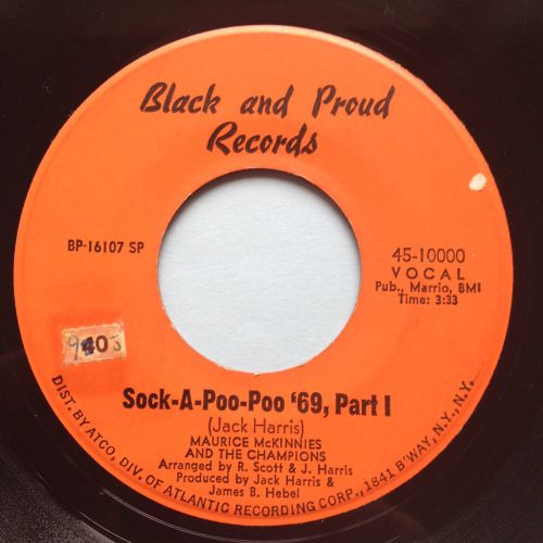 Maurice Mckinnies - Sock-A-Poo-Poo '69 - Black and Proud - Ex-