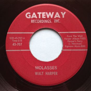 Walt Jessup - Molasses b/w Hey Mrs. Jones - Gateway - Ex