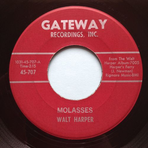Walt Jessup - Molasses b/w Hey Mrs. Jones - Gateway - Ex