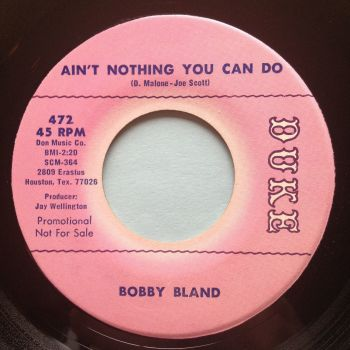 Bobby Bland - Ain't nothing you can do - Duke promo - Ex