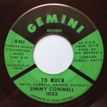 Jimmy Conwell - To much - Gemini - Ex