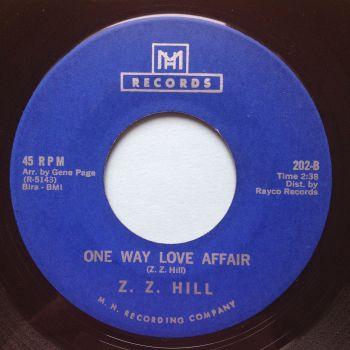 Z Z Hill - One way love affair - MH - Ex